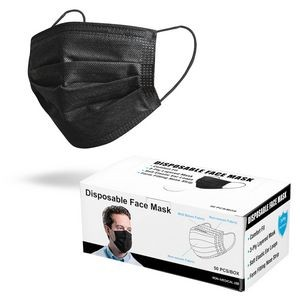 Black 3-Ply Disposable Face Masks - Level 1 ASTM